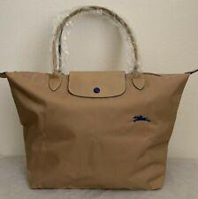 NEW Longchamp Le Pliage Club Large Nylon Shoulder Tote Bag $155 Biege