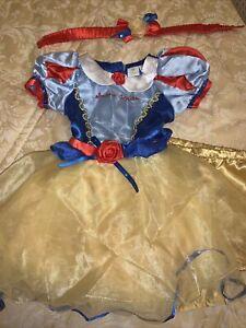 Baby Girls Disney 🍎 Snow White 🍎 2Pce Fancy Dress Up 6-12 Mths New