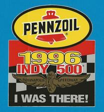 """1996 PENNZOIL INDY 500 """"I WAS THERE"""" STICKER"""