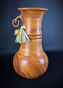 Grand vase ou cruche en terre cuite Afrique vintage - couleur marron oranger