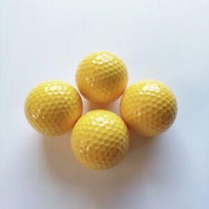 Adventure Golfbälle gelb, Minigolfbälle 4 Stück