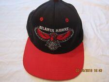 ADIDAS Blue w/ Red Flat Brim Atlanta Hawks Baseball Cap Basketball NBA Fans