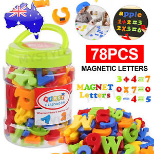 78PCS Xmas Numbers Fridge Magnetic Alphabet Letters gift Learning Toy Magnets
