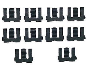 55-80 NOS GM Chevy Side Door Glass Window Channel Run Weatherstrip Clips 10pcs A