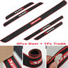 5PCS Rubber Car Door Scuff Sill Cover  Rear Bumper Pad Panel Step Protector