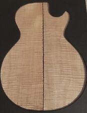 Eastern Maple Fiddleback Flame LP Guitar Top Matched Guitar Set No.1-8#13ou