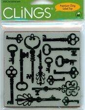 HERO ARTS CLINGS RUBBER Stamp ANTIQUE KEYS CG178 VINTAGE OLD FASHION