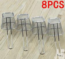 8 X Mini Chrome Restaurant Chips Fryer Serving Food Presentation Basket Kitchen