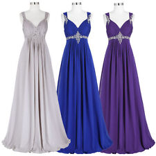 Plus Size Long Chiffon Bridesmaid Prom Formal Party Evening Ball Gown Dress Gift
