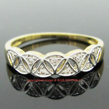 Cubic Zirconia Yellow Band Fine Rings