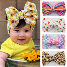 Kid Girl Baby Headband Toddler Large Bow Flower Hair Band Accessories Headwear