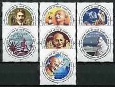 India 2018 MNH Mahatma Gandhi 7v Set Historical Figures Famous People Stamps