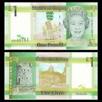 Jersey 1 Pound, ND(2010), P-32, UNC, Banknotes, Original