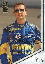 KURT BUSCH AUTOGRAPHED 2004 PRESS PASS VIP RACING NASCAR PHOTO TRADING CARD #3