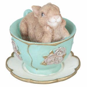Clayre & Eef Coniglio di Pasqua IN Tazza Decorazione Coniglio Misera Annata