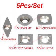 5Pcs/Set Carbide Insert Planers for Full Size Wood Lathe Turning Tool Set +Screw