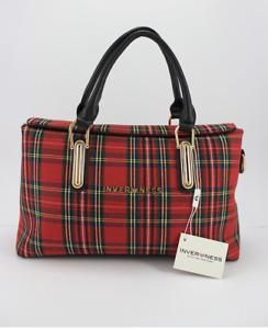 Inverness New Ladies Tartan Check Plaid Handbag / Shoulder Bag