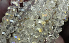 12 Crystal AB Crystal Faceted Rondelle Beads 8MM
