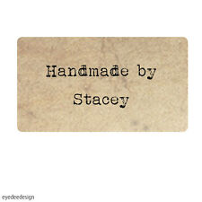 130 x Personalised Mini Handmade by Shabby Vintage Wedding Favour Stickers- 369