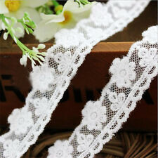 1 yd Lace Trimming Embroidered Cotton Wedding Ribbon Applique Craft Sewing Diy