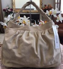 NWT CATERINA LUCCHI LARGE IVORY LEATHER HOBO HANDBAG MADEI N ITALY MSRP $400