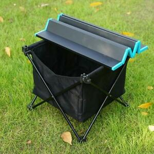 Waterproof Folding Family Table & Storage Hanging Basket Outdoor Picnic Camping