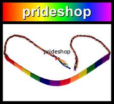 Rainbow Wound Cotton Flat Friendship Bracelet Lesbian And Gay Pride #906
