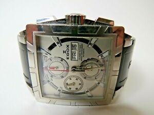Edox Classe Royale Automatic Chronograph Men's Watch Rubber Strap