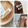 Haarspange Perlen Groß XL Haarclip Haarnadel Haarschmuck Gold Vintage Retro ♥
