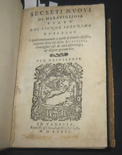 1567 Ruscelli, Secreti Nuovi di maravagliosa virtù. PRIMA EDIZIONE.. ALCHIMIA.