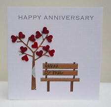 Personalised Anniversary Card - Husband Wife Son Daughter - Any Anniversary