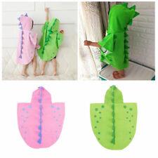 Children Kids Boy Girl Hooded Poncho Swim Beach Bath Towel Dinosaur Bathrobes