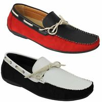 New Mens Faux Leather Classic Slip on Driver Loafers Casual Boat Shoes UK Size