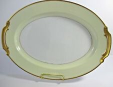 Noritake China Rengold Platter Hand painted 16.5 Oval Serving Gold Trim #E4