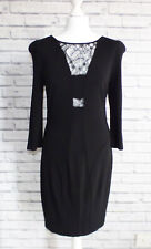 Whistles Black Fitted Lace Cut-Out Bodycon Dress Size 12