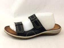 Clarks Womens 10 M Flip Flop Sandals Slides Navy Blue Shoes Casual Open Toe