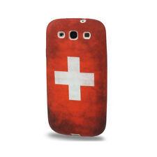 Softcase Schutzhülle Cover für Samsung Galaxy S3 Retro Schweiz Schweizer Flagge