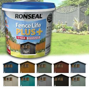 Ronseal Fence Life Plus+ Garden Shed & Fence Paint Matt Exterior Wood Paints 5L