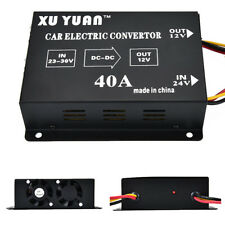 1X Car 40A DC 24V To 12V Power Inverter Transformer Electric Convertor Universal