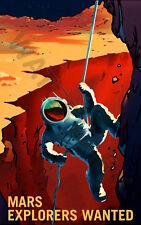 "NASA Poster Espace exploration Job annonce Explorateurs 24 x 38.4 ""Large LLF0858"