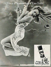 PUBLICITE ADVERTISING  1978    EAU FOLLE  parfum   GUY LAROCHE