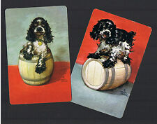 Playing Swap Cards 2 VINT BUTCH  ART  BY STAEHLE  SPANIEL  DOGS NO ADVTS W283