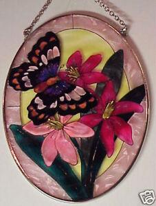 Hanging Suncatcher Butterfly & Flower AMIA (tm) AM 7628