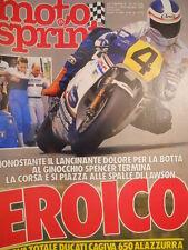 Motosprint 25 1985 Big Freddie Spencer Test Ducati Cagiva 650 Ala Azzurra[SC.31]