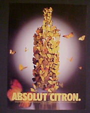 Absolut Vodka Distilly~CITRON~BUTTERFLY~PHOTO PRINT AD