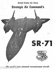 LOCKHEED SR-71 STEALTH RECON/ US STRATEGIC AIR COMMAND PR SPEC SHEET/FACSIMILE
