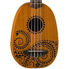 Luna UKE TATTOO Soprano Pineapple Ukulele & Gig Bag