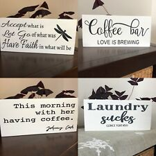 Farmhouse Decor, Johnny Cash, Laundry Sign, Coffee Bar, Accept What is