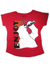 Coca-Cola  Juniors Asymetrical Midriff Hem Tee T-shirt Polar Bear Large