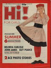 Hi! Magazine 6 May 1988    Belinda Carlisle    John James    Guy Pearce